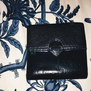 Brighton Black Leather Folded Heart Wallet
